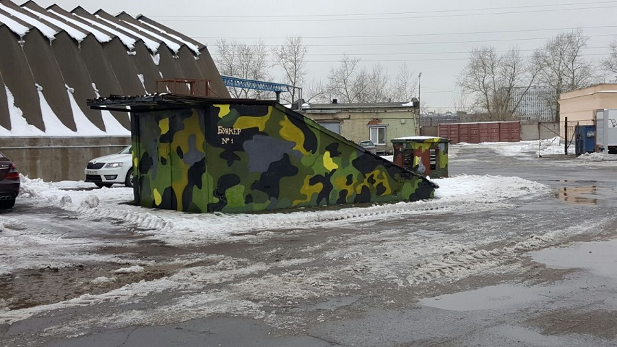 Пейнтбольный клуб Бункер СССР в Москве